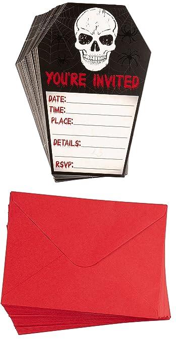 Amazon Com Halloween Invitation Cards 60 Pack Halloween Party