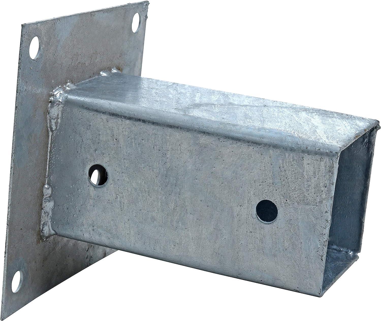 ESTEXO Aufschraubh/ülse Pfostenh/ülse Pfostentr/äger Bodenh/ülse Aufschraubbodenh/ülse H/ülse Pfostenschuh eckig 71x150 mm