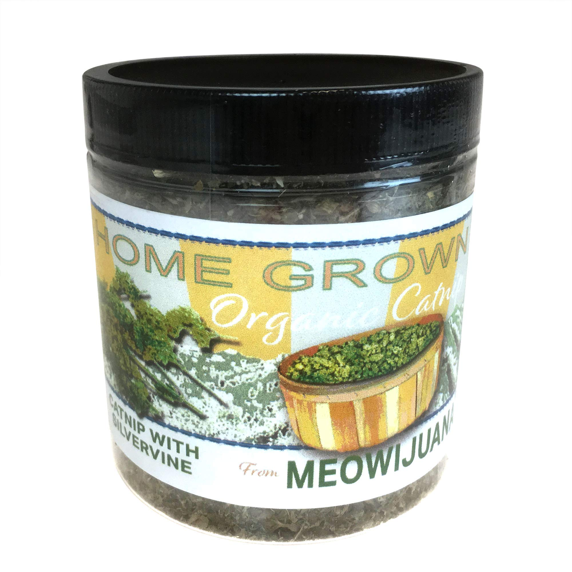 Meowijuana Catnip with Silvervine Blend, Feline Approved, Infused with Maximum Potency Your Cat is Guaranteed to go Crazy for!