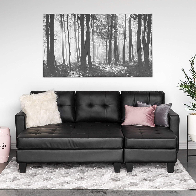 Tremendous Best Choice Products 3 Seat L Shape Tufted Faux Leather Inzonedesignstudio Interior Chair Design Inzonedesignstudiocom