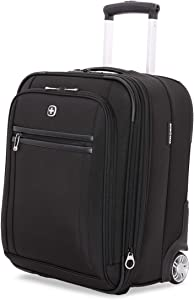 SWISSGEAR Ultra Premium Rolling Carry-On 19-inch Luggage | Wheeled Weekend Travel Suitcase | Men's and Women's - Black