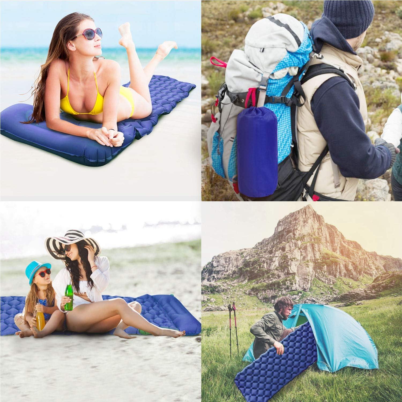 resistente al agua Colchoneta aislante para camping con almohada playa colch/ón de aire ultraligero tama/ño peque/ño senderismo viajes para camping exterior Karvipark para camping