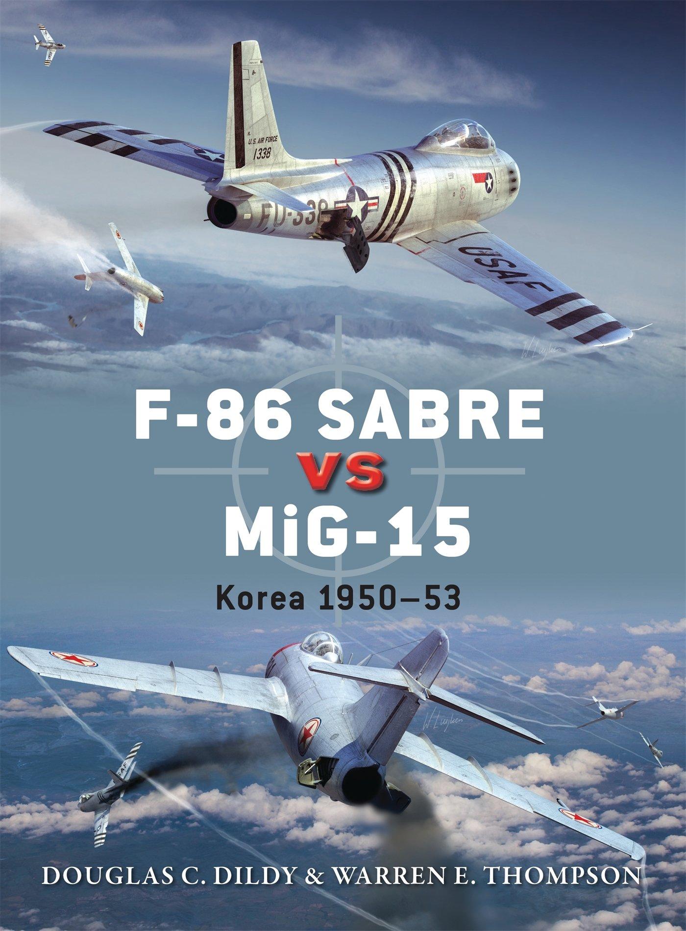 Capa do livro F-86 Saber vs MiG-15: Korea 1950-53 da Osprey Publishing.