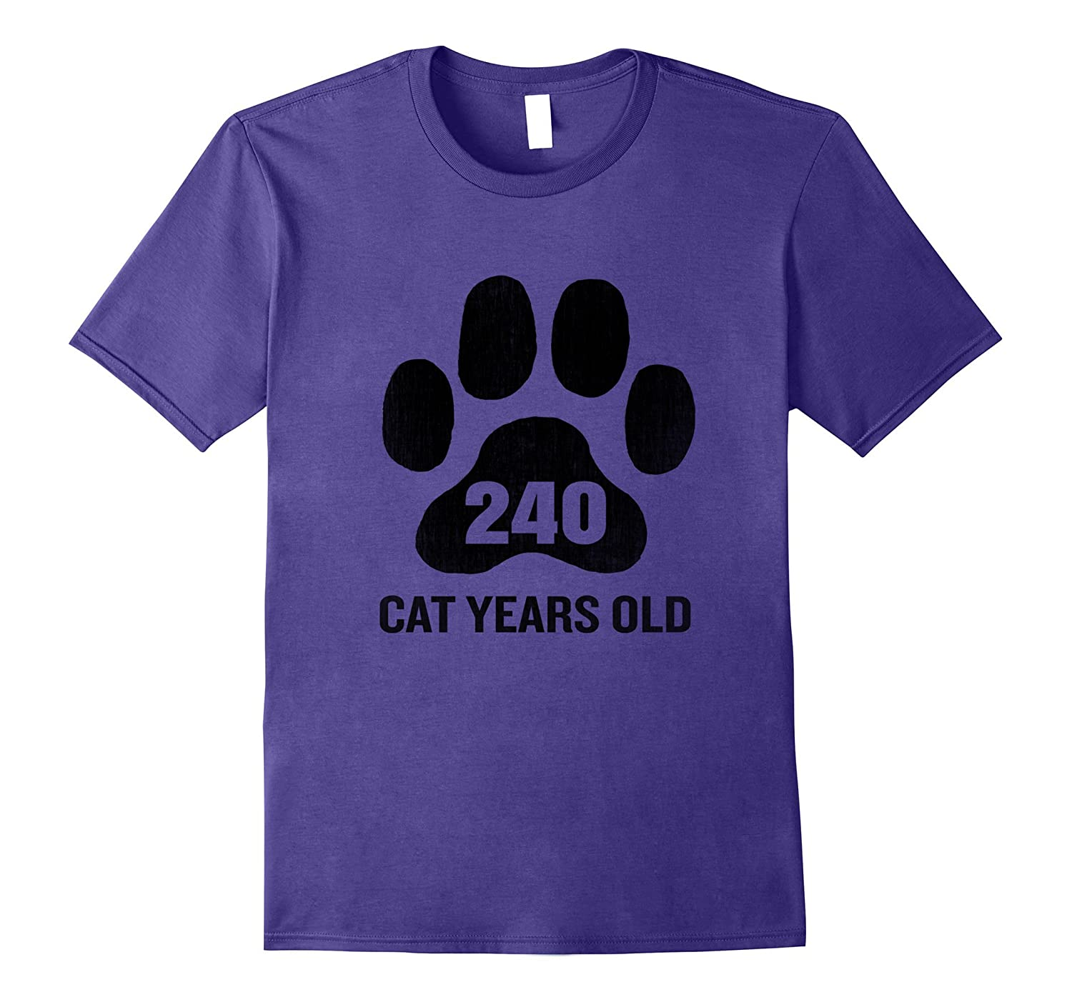 240 Cat Years Old T-Shirt Funny 60th Birthday Gag Gift Paw-Art