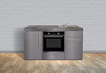 Miniküche 1 M Mit Kühlschrank : Miniküche premiumline mpbes u edelstahl u kühlschrank