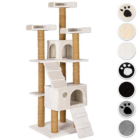 TecTake Rascador Árbol para gatos 169 cm de altura - disponible en diferentes colores - (