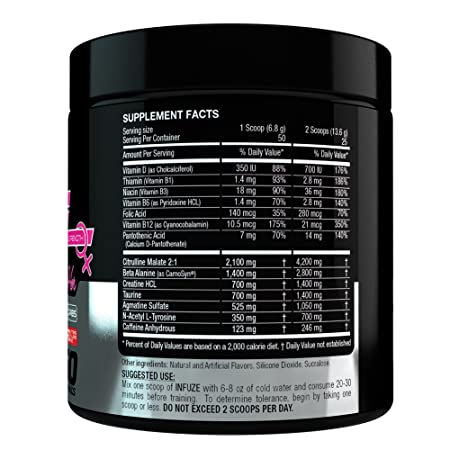 Amazon.com: 50 servings INFUZE PREWORKOUT FOR WOMEN, PREWORKOUT POWDER FOR WOMEN, PREWORKOUT SUPPLEMENT FOR WOMEN, PREWORKOUT FOR HER, STRAWBERRY FLAVOR ...
