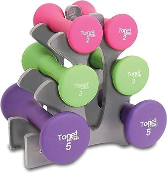 Tone Fitness 20lb Dumbbell Set