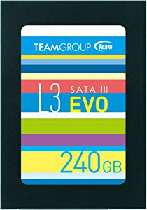 TEAMGROUP Ultra L3 EVO 240GB 2.5 Inch SATA III Internal Solid State Drive SSD (Read/Write Speed up to 530/470 MB/s) T253LE240GTC101