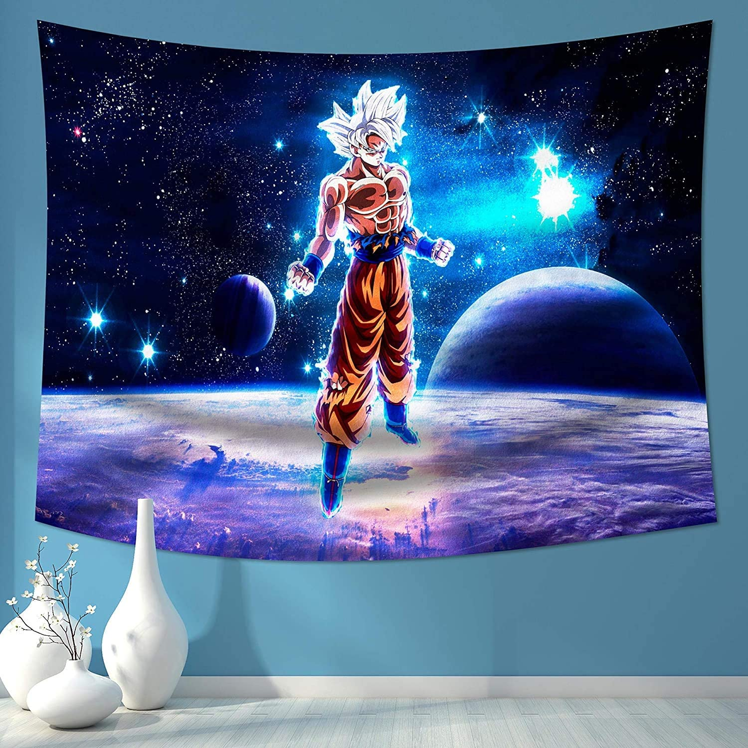Yaweya Tapestry Anime Tapestry Wall Hanging for Anime Gifts Boys Bedroom Living Room 50x60in (Dragon_Ball_z Tapestry 3, 50x60in)