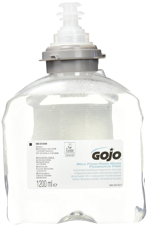 GOJO TFX Recarga De Jabón Ultra Suave Sin Fragancia, 1200 ml, 2 Unidades: Amazon.es: Industria, empresas y ciencia