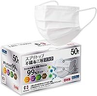 Amazon.co.jp: 【日本製マスク】 前田工繊 スプリトップ 不織布三層マスク 50枚入×1箱: ドラッグストア