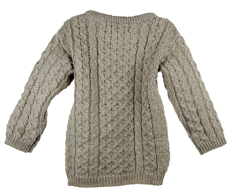 4bde9387557b48 Amazon.com  100% Irish Merino Wool Little Boy s Crew Neck Aran Sweater   Clothing