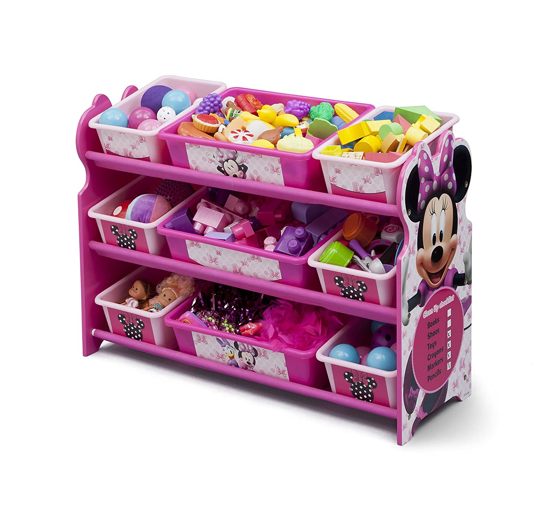 Exceptionnel Amazon.com: Delta Children 9 Bin Plastic Organizer, Disney Minnie Mouse:  Baby