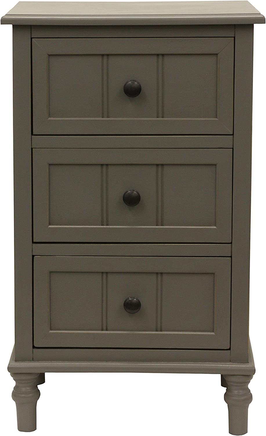 Décor Therapy FR1868 Accent Table, Eased Edge Grey