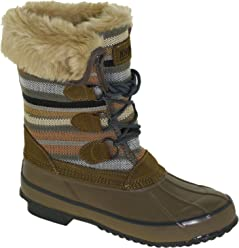 Khombu Womens Solis Winter Boot Fossil