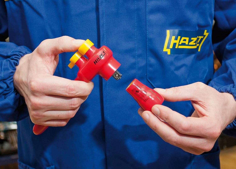 916SP HAZET Umschaltknarre 1//2 Zoll Vierkant, 32 Z/ähne, 2-Komponenten-Griff