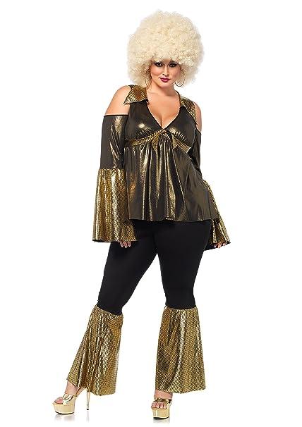5bd293d3e5c Leg Avenue Women s Plus-Size Disco Diva Costume Green  Amazon.ca ...