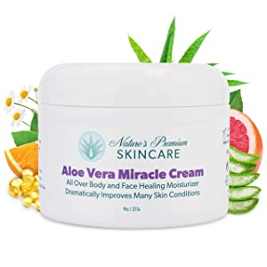 Face Moisturizer For Women Skin Care - Aloe Vera Cream - Organic Face Moisturizer Cream - Organic Face Cream - Aloe Vera Skin Care - Dry Skin Moisturizer - Anti Aging Natural Skin Care - Acne Sensitive Moisturizer