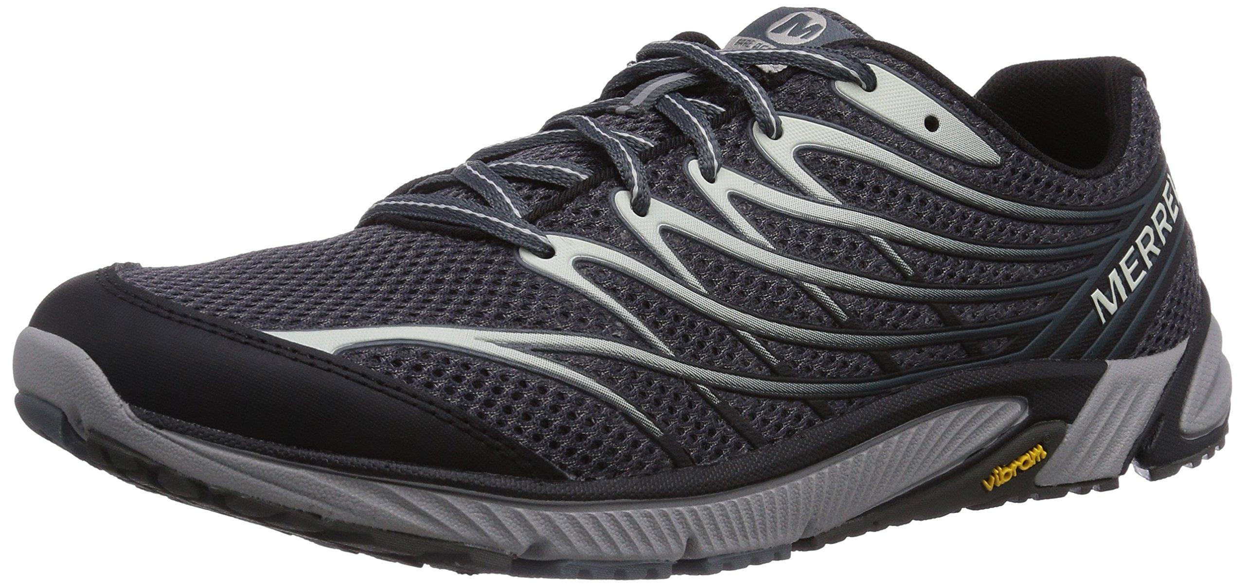 Merrell Men's Bare Access 4 Trail Running Shoe, Black/Dark Grey, 11.5 M US