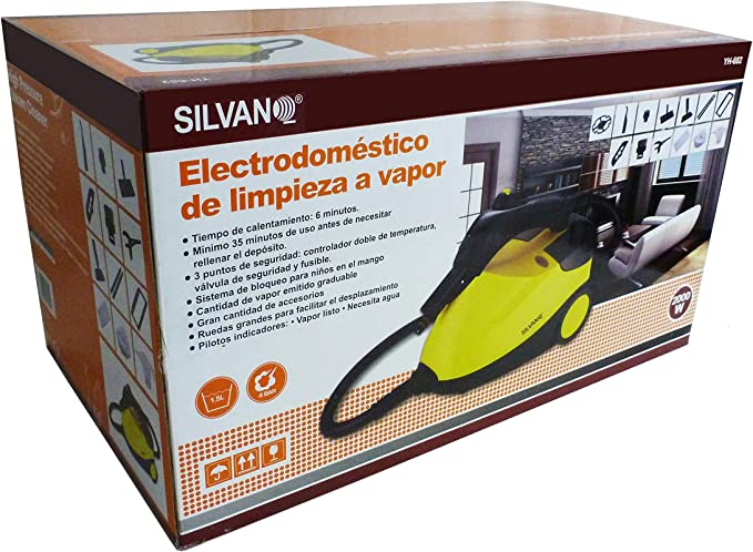 Vaporeta 3,5 bares 2000 W accesorios multiusos 1,5 litros robot limpieza vapor: Amazon.es: Hogar