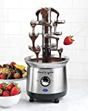 Nostalgia CFF1000 2-Pound Stainless Steel Cascading Chocolate Fondue Fountain