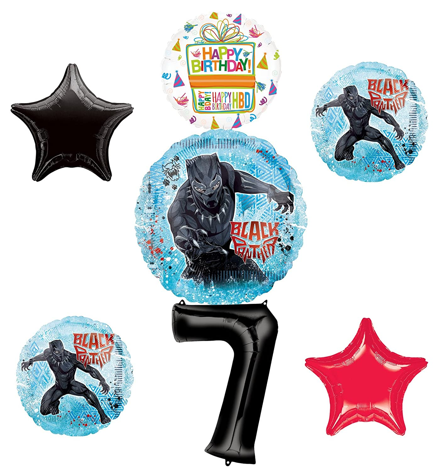 Amazon Black Panther Party Supplies 7th Birthday Balloon Bouquet Decorations Toys Games