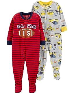 Amazon.com  Carter s Baby Boys  12M-24M One Piece Dinosaur Fleece ... 92a78e465