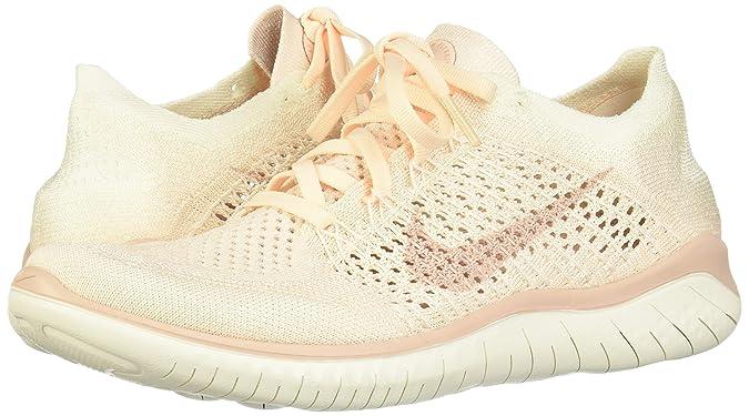 Nike Wmns Free RN Flyknit 2018, Zapatillas de Running para Mujer, Amarillo (Guava Ice/Particle Beige-Sail-Rust Pink 802), 38.5 EU: Amazon.es: Zapatos y complementos