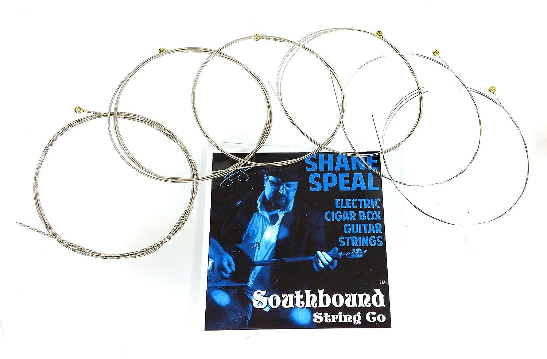 Shane speal 6-string Cigar Box Guitar String Set - como utilizar el escenario por el rey de la caja de puros guitarra.: Amazon.es: Instrumentos musicales