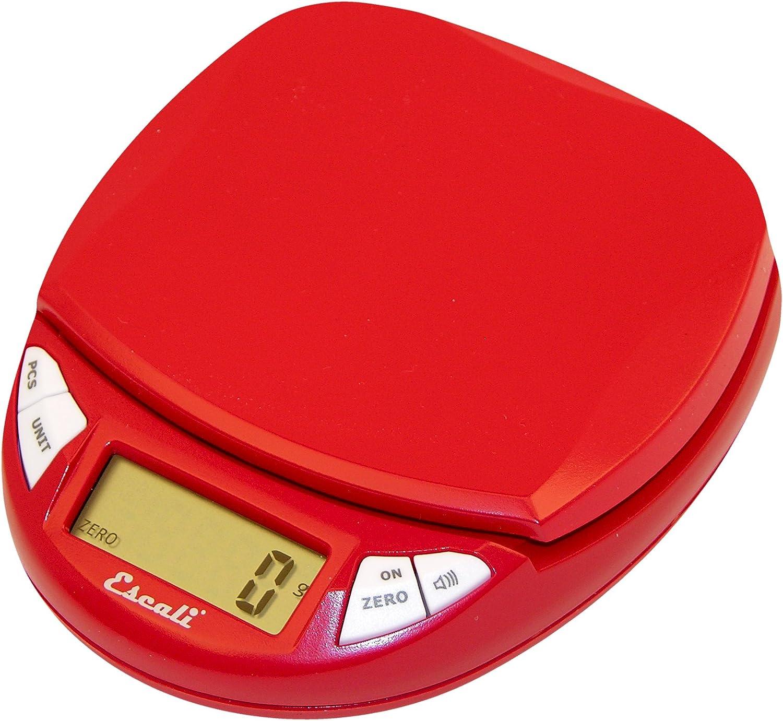 Escali Pico Digital Scale, Cherry Red