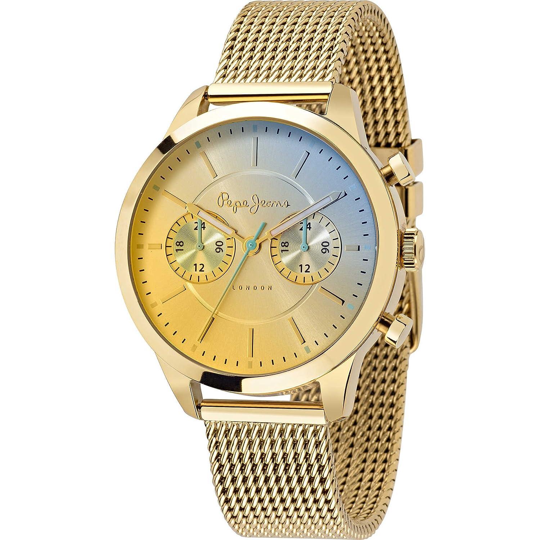 Pepe Jeans Damen-Armbanduhr Meg  Analog Quarz Edelstahl R2353121502