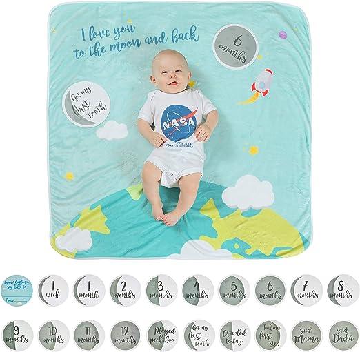 Cute Baby Shower Gift Unisex Brand New Baby Milestone Cards X24