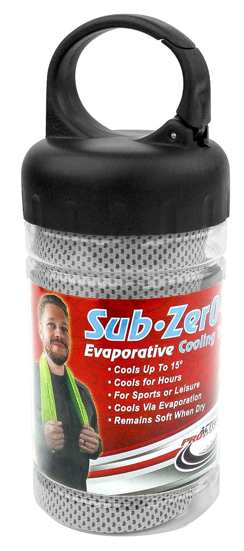 "Proactive Sports Sub Zero 2.0 Evaporative Cooling Sport Towel 40"" x 12"" in Carabiner Storage Tube"