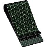SERMAN BRANDS Carbon Fiber Money Clip Credit Card Holder Slim Business Front Pocket Clips for Men Black Glossy