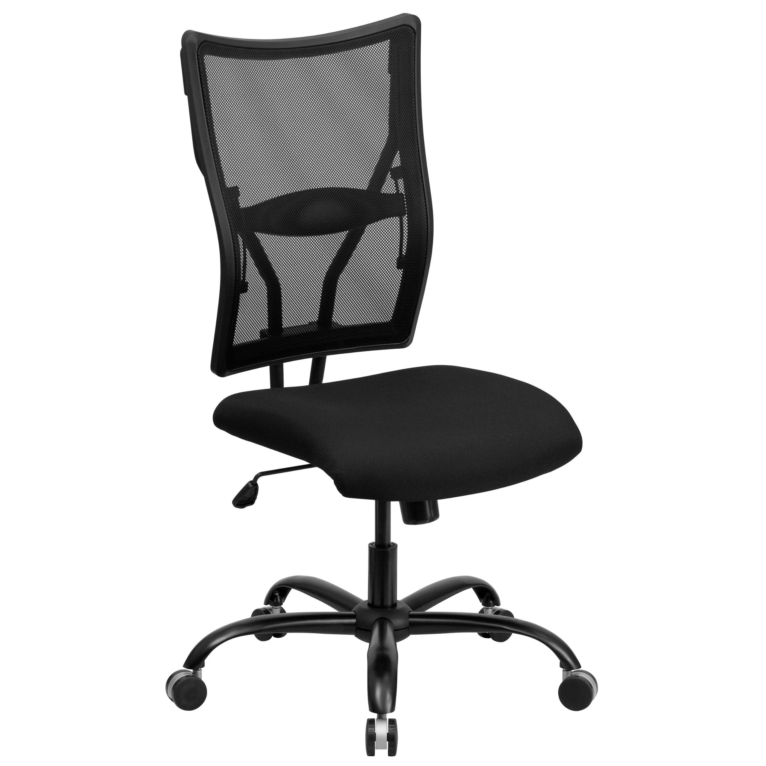 Flash Furniture HERCULES Series Big & Tall 400 lb. Rated Black Mesh Executive Swivel Chair