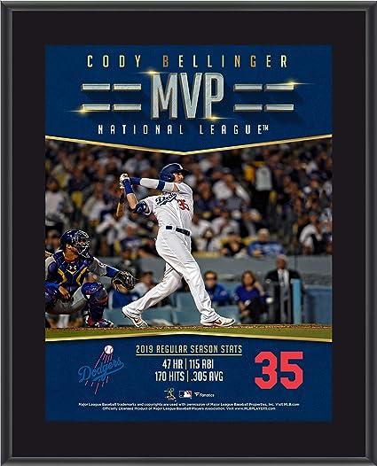 Fanatics Authentic Certified Cody Bellinger Los Angeles Dodgers 34 Rookie Season Stats Hardwood Bat