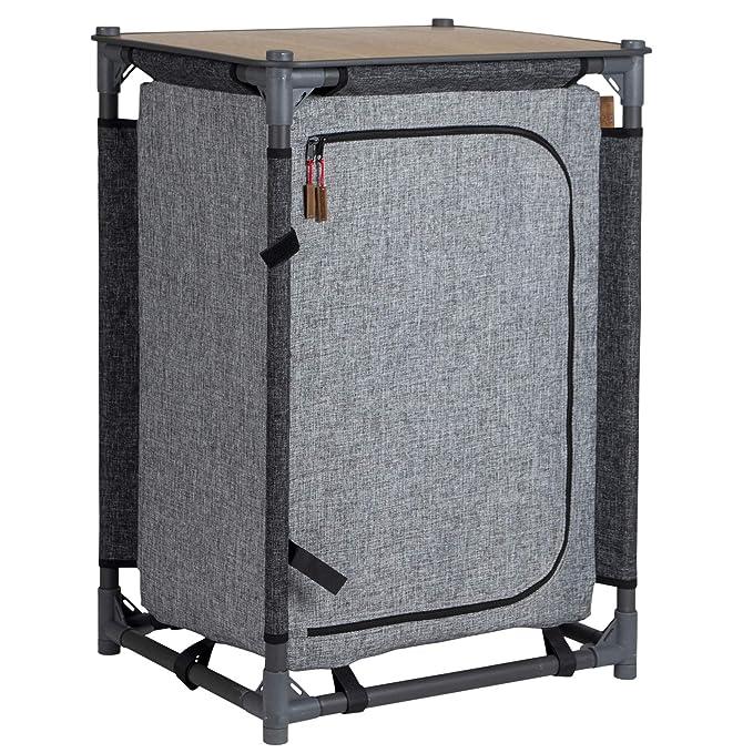 10T Campingschrank Flapbox 3 F/ächer Schrank klappbare Campingk/üche Kofferschrank mit Faltmechanismus