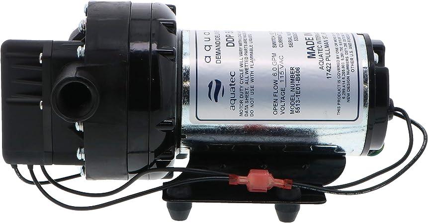 Aquatec 5851-7E12-J574 0.7 GPM 60 PSI 3//8 inch JG 120V Delivery//Demand Pump.