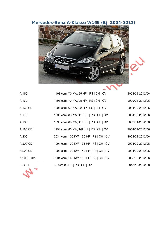 169//Series B W245/2004/avec angeschraubtem Rotule /Rigide AHK Remorque avec jeu de 7/broches pour MB A Series W /électrique-Dispositif dattelage Dispositif de suspension/