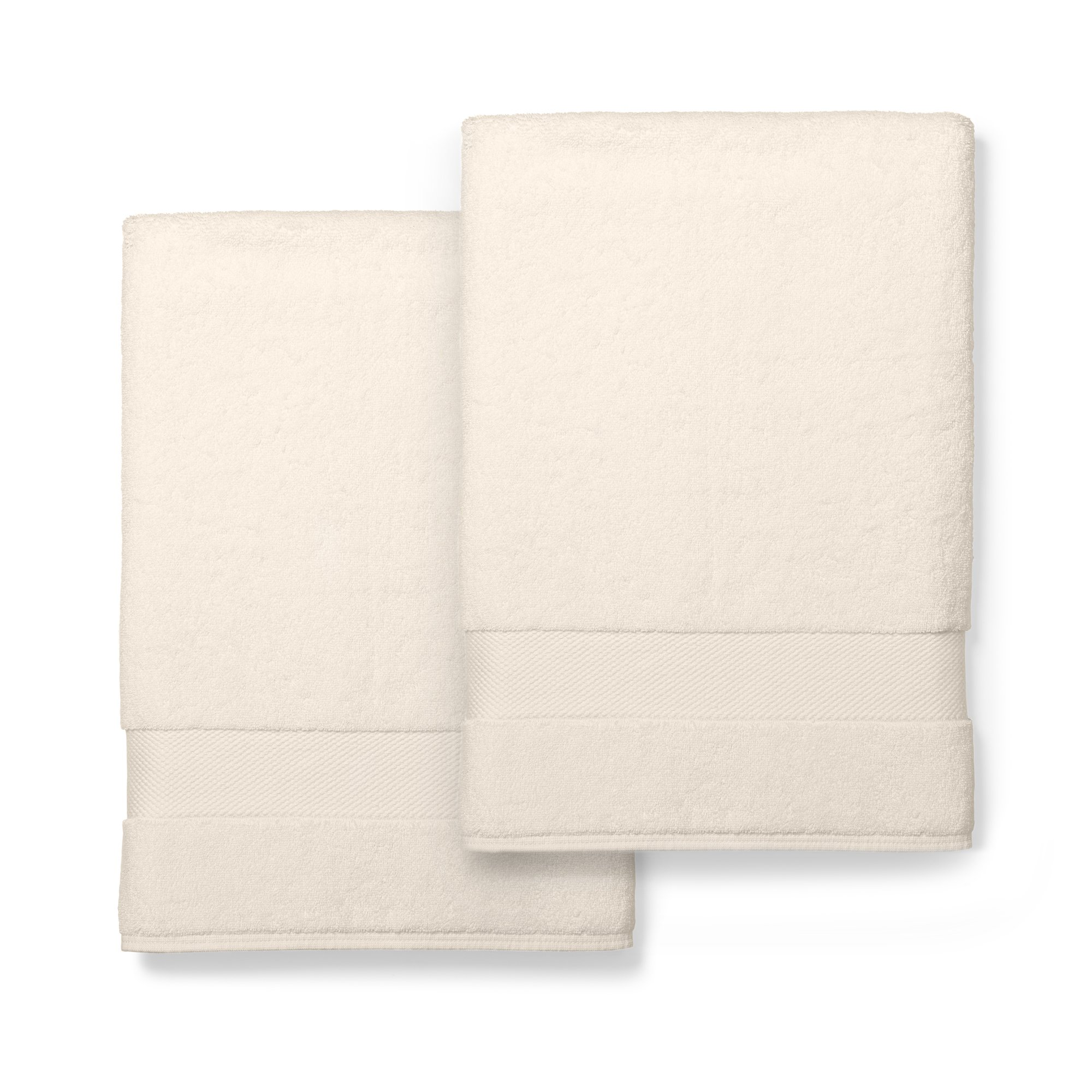 Boll & Branch Luxury Bath Sheets | Fair Trade Organic Cotton Large Bath Towels | Natural, 2 Pack