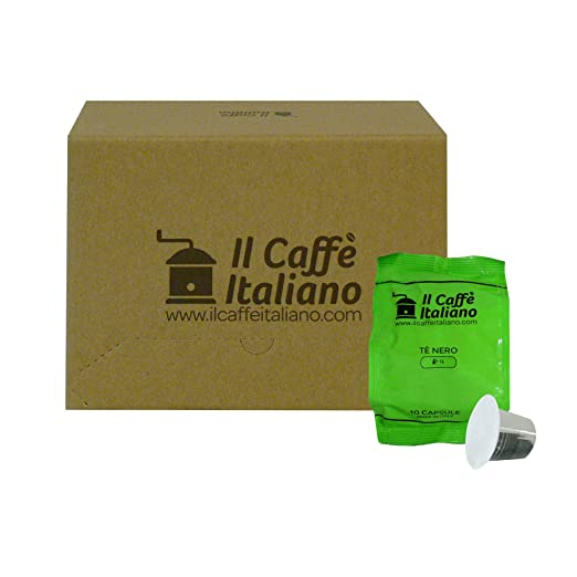 Il Caffè italiano 50 Nespresso Compatible Tea Capsules - Black Tea - 50 X Tea Capsules/Pods Espresso Compatible Nespresso - (10 Pack Of 5 For A Total Of 50 ...