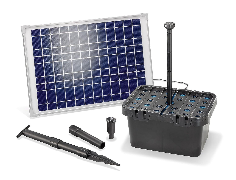 Solar teichfilterset starter 1300 l h f rderleistung 20 w for Gartenteich ohne filter