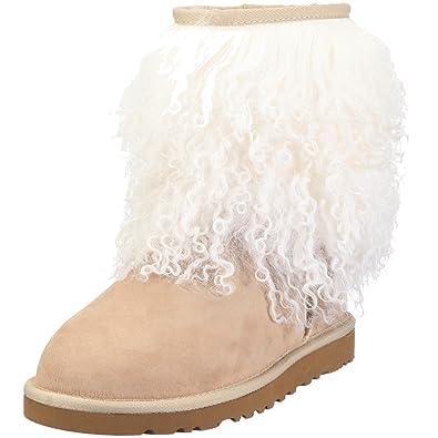 ugg australia women s sheepskin cuff boot sand flat 1875sand6 4 uk rh amazon co uk