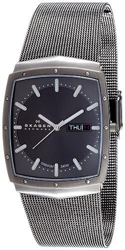 Skagen Slimline 396LTTM - Reloj de caballero de cuarzo (japonés), correa de acero inoxidable color gris: Skagen: Amazon.es: Relojes