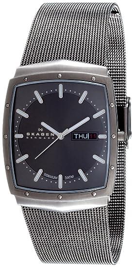 Skagen Slimline 396LTTM - Reloj de caballero de cuarzo (japonés), correa de acero