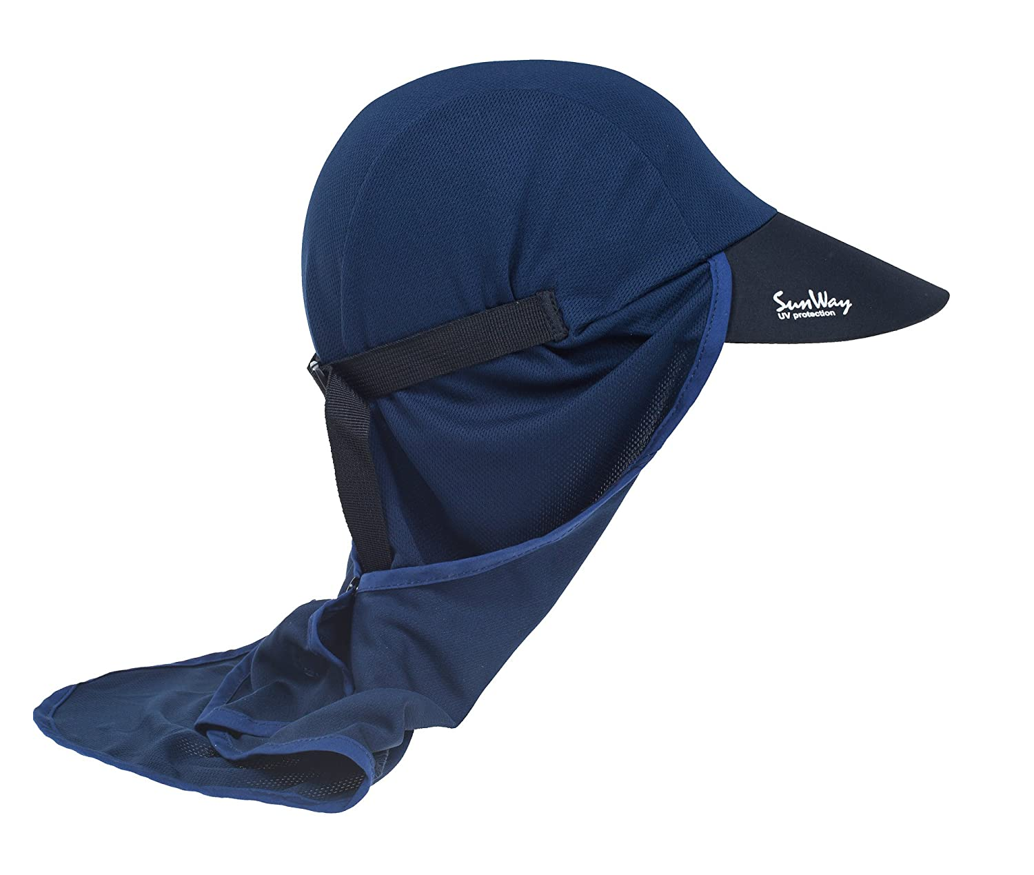 f79424ed8ff47e Amazon.com  Sunway Adult Legionnaire Hat Sun Protective UPF50+ (Blue)   Clothing