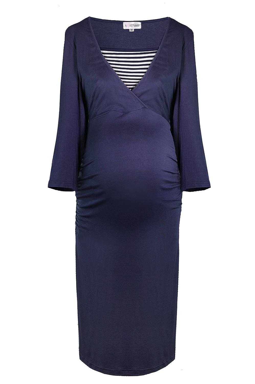 HERZMUTTER Women's Maternity Nightwear Set - blue - Large