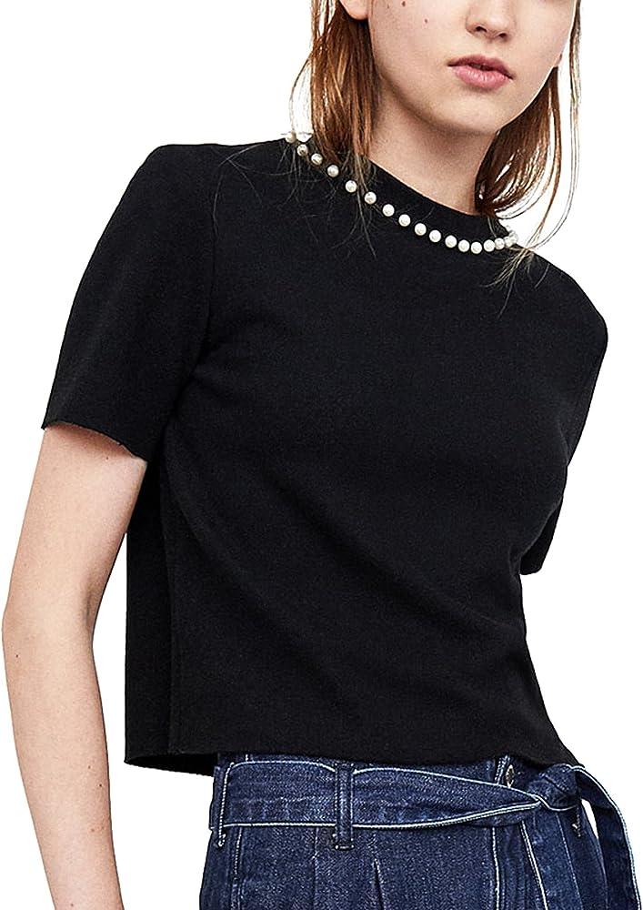 Zara Camisas - Para Mujer Negro L: Amazon.es: Ropa y accesorios