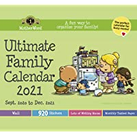 MotherWord Ultimate Family Wall Calendar, 16-Month, Sept 2020-Dec 2021, English, Tabbed Version, 12 x 21.5 Inches…